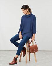 Joules Womens Vanna Kimono Sleeve Jumper - Blue Marl - 12