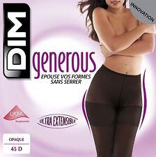 Dim Collant Generous 45D Opaque Coloris Chocolat Taille L Neuf