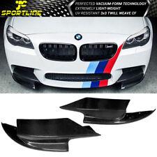 Fits 12-16 BMW 5 Series F10 M5 RKP Style Front Bumper Lip Splitter Carbon Fiber