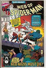Marvel Comics Web Of Spiderman #72 January 1991 Silver Sable F+