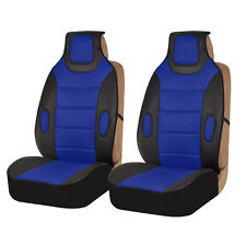 Blue Black Leatherette Cushion Pads With 3D Air Mesh