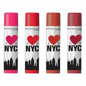 Maybelline New York Baby Lips Loves NYC Spf 20 Lip Balm, (Pack of 4) 4gm each