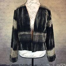 Chico's Women's Velvet Open Blazer Cardigan Embroidered Design Size 0