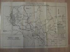 Frankreich-- Landkarte --- Maßstab 1: 750.000 --1.Infantrie Regiment König -TOP-