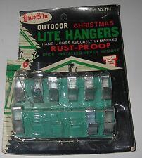 Vintage 9 Outdoor Christmas Light Lite Metal Rust-Proof Hangers by Yule Glo