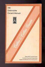 1981 OLDSMOBILE CUTTLASS & CUTLASS CRUISER OWNER`S MANUAL