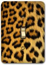 Retro Leopard Pattern Metal Switch plate Wall Cover Lighting Fixture SP694
