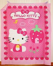 Pink Hello Kitty Cupcake Quilt Panel by David Textiles btp PRICE REDUCED