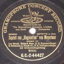 78rpm/Gramophone GC-2-44428/LEO SLEZAK/MAYR/SEPTETT AUS WAGNER TANNHÄUSER