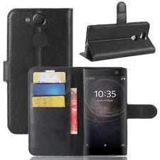 Cartera De Bolsillo Negro Premium para Sony Xperia XA2 Cubierta la caja sobres