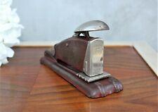 Vintage office stapler industrial staples stationary brown steel metal punch