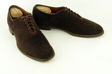 STONE & TARLOW * FABULOUS BALMORAL IN DARK WINE SUEDE * SZ: 9.5 * SUPERB