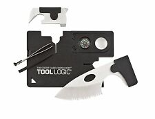 SOG Speciality Knives Tools CC1SB Credit Card Companion with 9 tools, Black New