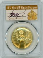 2015-W $100 Gold Liberty High Relief MS70 PCGS Thomas Cleveland Art Deco