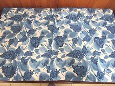 Gloria Vanderbilt King Pillow Sham Blue White Floral Leaves Kohls