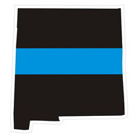 New Mexico NM State Thin Blue Line Police Sticker / Decal #211