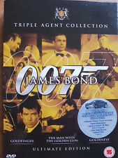 James Bond Golden Triple Pack Goldfinger, The Man With The Golden Gun, Goldeneye