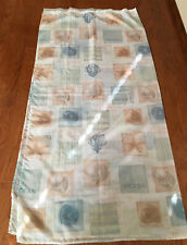 Sea Shell Shower Curtain With Matching Decorative Hooks