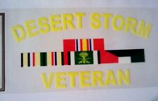 "Desert Storm Veteran Vinyl Decal 5"" wide x 2 3/4"" long"