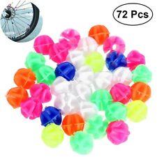 144X Bicycle Bike Wheel Plastic Spoke Bead Children Kids Clip Colored Decoration