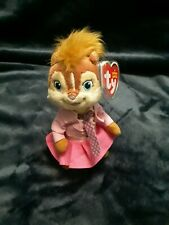 Brittany - Alvin and the Chipmunks TY Plush Beanie Baby Squeakquel With Tag 2013