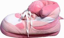 Happy Feet slipper Pink & White Hi Top  FITS Ladies -  7- 8