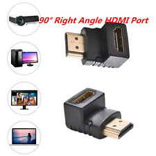 NEW HDMI 90 degree L shaped Connector Cable Male to Female Adaptor Right Angle