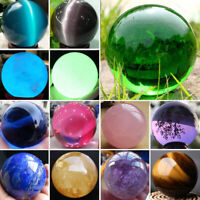Natural Quartz Magic Gemstone Sphere Crystal Reiki Healing Ball Stone Decor Lot
