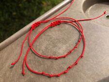 2pcs Red STRING KABBALAH  * 7 Knots *LUCKY BRACELETS Against Handmade