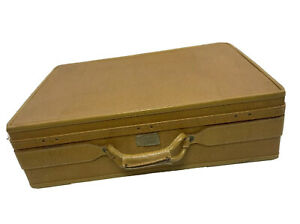 Vintage Hartmann 24 x 17 Vinyl Leather Camel Tan Suitcase XL Luggage