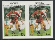 St Vincent Bequia (1981) - 1986 Worl Cup FOOTBALL IMPERF PAIR unmounted mint