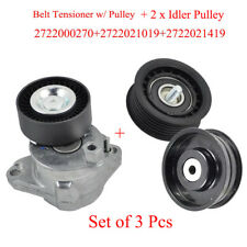 For Mercedes C300 E350 S550 ML350 Belt Tensioner W/ Pulley + Idler Pulley (3pcs)