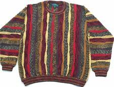 VTG TUNDRA Canada Mens Medium Crewneck Sweater Biggie Smalls Multi Color Hip Hop