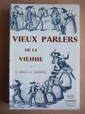 MINEAU,  RACINOUX : GLOSSAIRE DES VIEUX PARLERS DU DEPARTEMENT DE LA VIENNE 1975