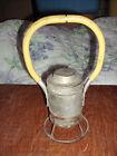 ANTIQUE ADLAKE RAILROAD CONDUCTOR DUAL BULB HAND SIGNAL LANTERN LAMP BATTERY OPR