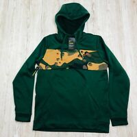 NIKE THERMA HD PO CAMO HOODIE GREEN Size MEDIUM M BV2778 375 HOODY