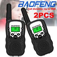 2PCS Baofeng BF-T3 Walkie Talkies Radio 2 Way PMR 446MHz 22CH Long Range Kids UK