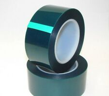 "Powder Coating Coat High Temp Masking Tape - 2 Sizes - 1.2"" and 2"" - 2 Mil Green"