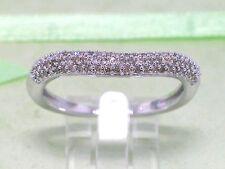 Sale Sale Diamant Ring 585 Weißgold 14Kt Gold Bandring 72 Diamanten total 0,25ct