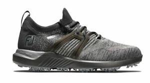 NEW 2021 FootJoy HyperFlex Mens Golf Shoes Black/Charcoal 51081 9.5M