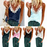 Women Cami V Neck Lace Spaghetti Strap Vest Ladies Causal Beach Holiday Tank Top