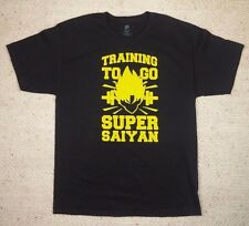 Training To Go Super Saiyan - Mens T-Shirt - Dragon Ball Goku Black Yellow Tee