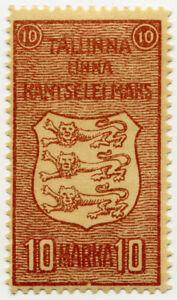 TALLINN 2nd TYPE ESTONIA MUNICIPAL REVENUE c1925