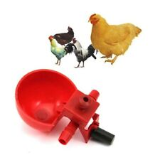 2Pcs Bird Coop Feed Automatic Poultry Water Drinking Cups Chicken Fowl Drinker