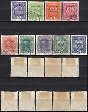 #506 - Occupazioni, Trentino Alto Adige - Lotto di 9 francobolli, 1918 - Usati