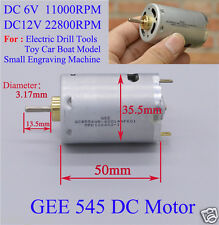 DC 6V-12V 22800RPM High Speed Carbon Brush RS-545 Motor for Electric Drill Model