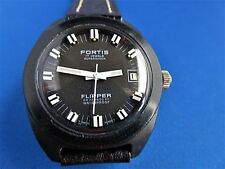 Rare Vintage Fortis Flipper Olympic EDITION MEN's 17 JEWEL 600 FT SWISS Watch