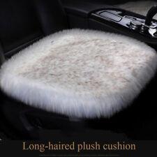 Universal Car Seat Covers Fiber Faux Car Seat Cushion Plush Winter Warm Seat Mat