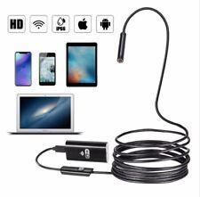 WIFI Endoscopio Cámara Android 720P 8 mm 2 M Cable serpiente Flexible iPhone Android