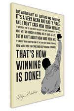 PORTRAIT ROCKY BALBOA MOVIE QUOTE CANVAS WALL ART PICTURES POSTERS BOXING PRINTS